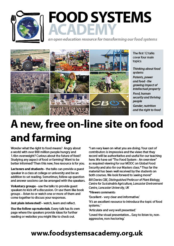food systems flyer